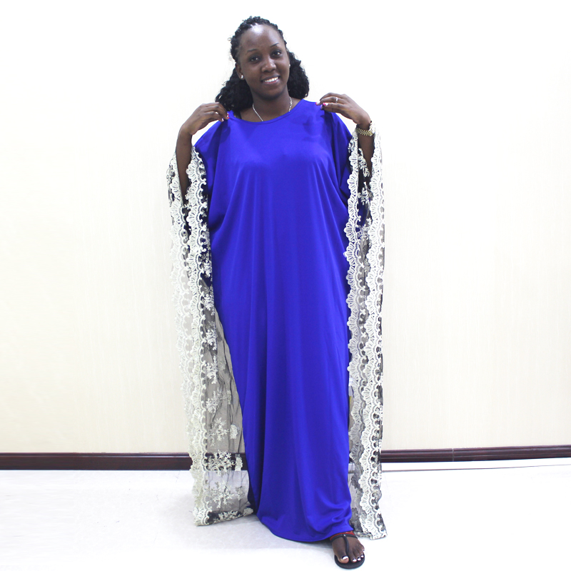 Dashikiage Batwing Sleeve African Lace Dress Muslim Evening Dress Mama Plus Size Party Clothes