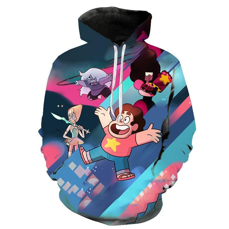 2020 New Funny 3D Print Men Women Children Anime Streetwear Steven Universe Sweatshirt Harajuku Hoodies Fashion Hoody Pullover