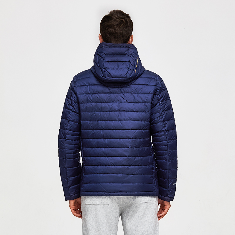 TIGER FORCE Men Hooded Jacket Fashion Spring Winter Cotton Padded Jackets Solid Color Casual Parka Male Puffy Coat with Hoody
