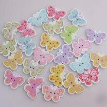 Wbnvev forma de borboleta moda botões para vestuário mix 150 pçs 1