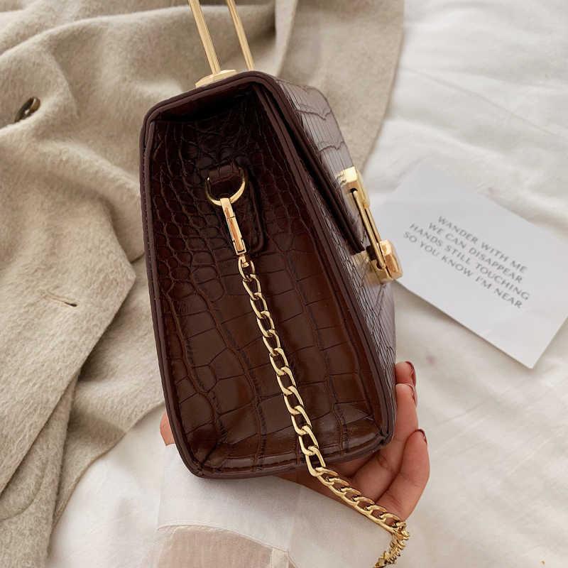 Feminino alligator crossbody sacos para as mulheres 2020 bolsas de luxo designer sac um principal senhoras mão ombro saco do mensageiro couro do plutônio