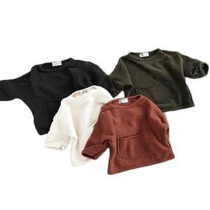 Boys Autumn Hoodies Children Cotton Long Sleeve Sweatshirt Solid Casual Pullover Kids Boy Clothing Fashion O-neck Sweatshirts