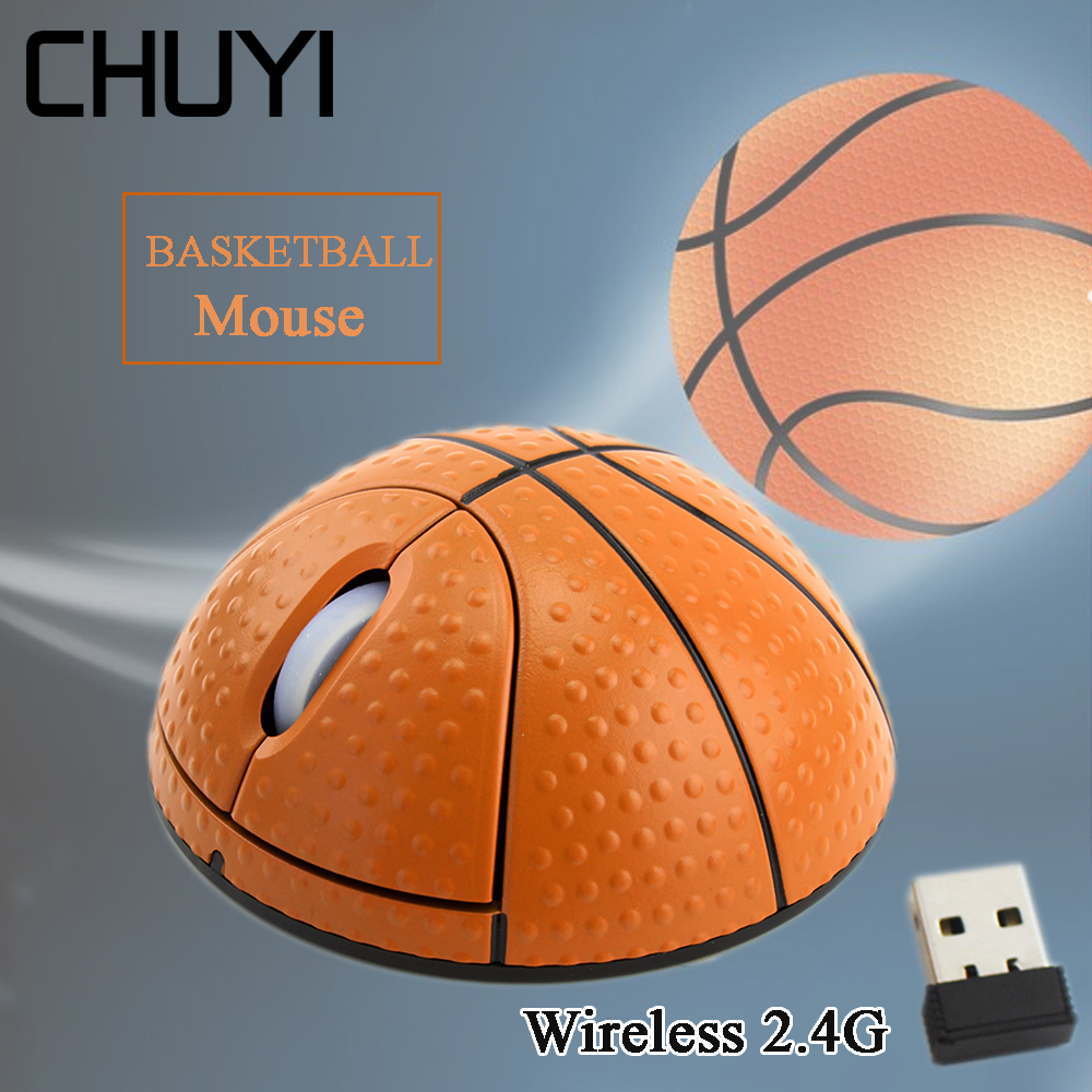 Беспроводная оптическая баскетбольная мышь CHUYI, 2,4 ГГц, 1000DPI-0