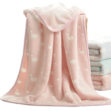 Soft Flannel Baby Blankets Comfortable Warm and Breathable Thicken Swaddle Cartoon Blanket Newborn Baby Bedding Blanket 80*100cm