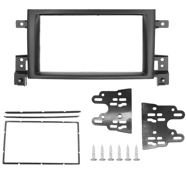 2 Din Frame for Suzuki Grand Vitara 2005~2017 Douuble Din Radio Fascia DVD Panel Dash Kit Installation Frame Trim Bezel