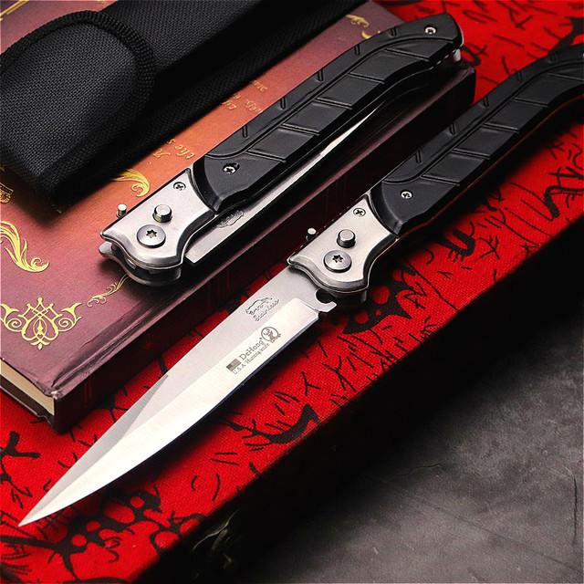 Dehong U.S Outdoor Folding Knife ABS Black Handle Quick Folding Edge Pocket Knife Home Folding Knife Hunt Knife Tool Knife 2
