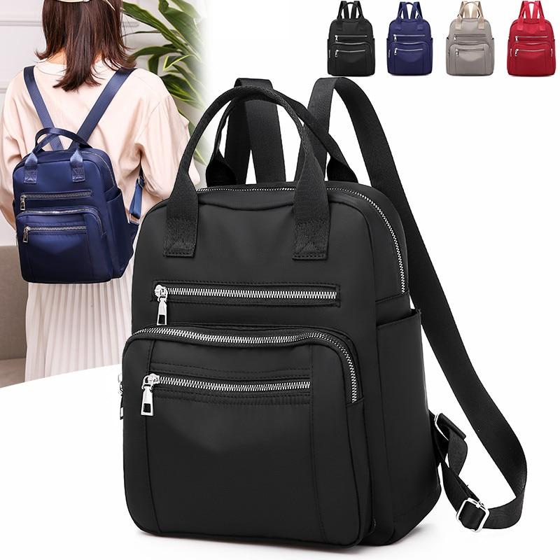 Vento Marea Women Backpack 2020 Travel Casual Waterproof Women's Shoulder Bags Female Large Capacity Oxford Rucksack Black Purse