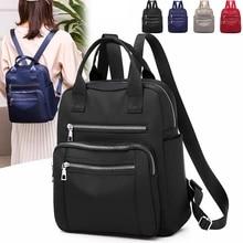 Women Backpack Rucksack Shoulder-Bags Oxford Travel Large-Capacity Black Waterproof Purse