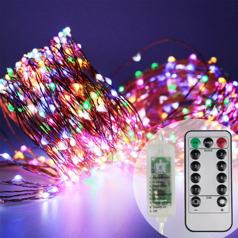 LED String Lights 30M 50M 100M Street Garland Light Christmas Fairy Lights Decoration Warm White Starry Light For Home Outdoor