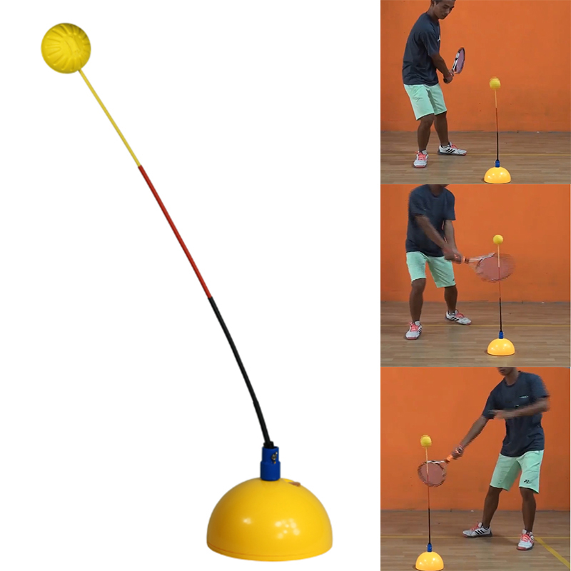 Portable Tennis Trainer Practice Rebound Training Tool Professional Stereotype Swing Ball Machine Beginners Self-study Accessory