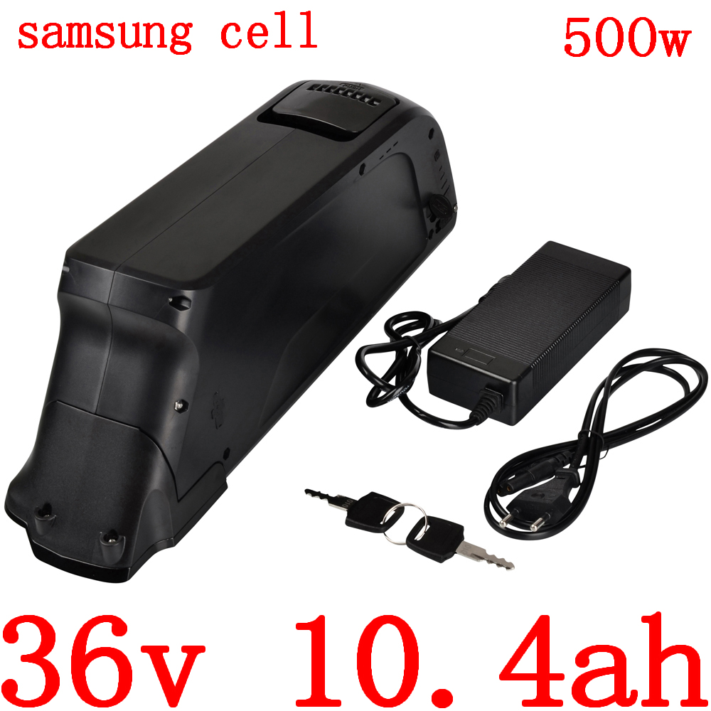36V 10AH battery 36V electric bicycle battery 36v 10ah 13ah lithium battery use samsung cell for 36V 250W 350W 500W ebike motor|Electric Bicycle Battery| |  - title=