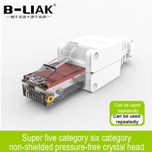 B-liaktool – connecteur de câble réseau RJ45 sans blindage, câble Ethernet, connecteur Cat5e UTP, paire torsadée non blindée, plaqué or
