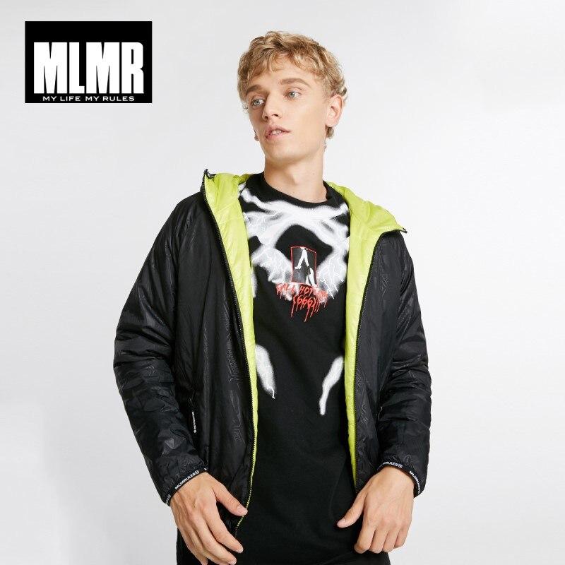 JackJones Men's Style Reversible Hooded Parka Coat Short Padded Jacket Double-faced Menswear 218409502