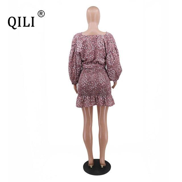 qili сексуальное бандажное платье для женщин с рукавом фонариком фотография