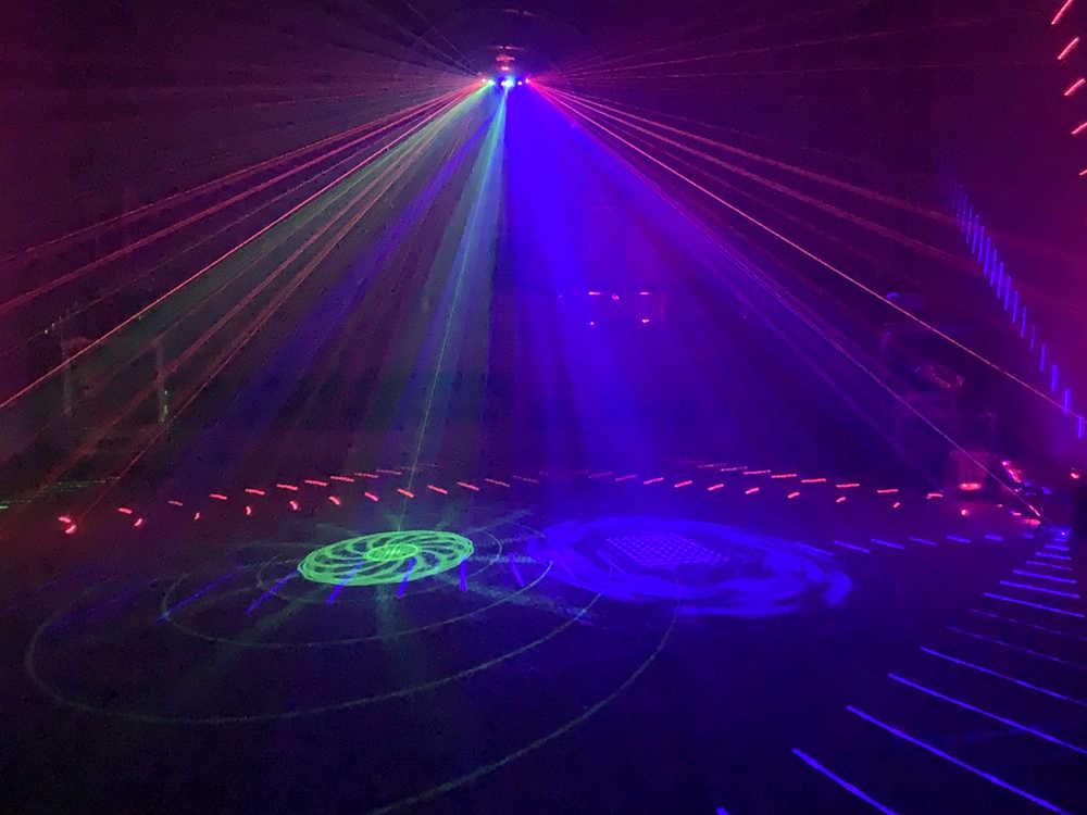 6 Lensa DMX Merah Hijau Biru RGB Beam RGB 16 Pola Laser Scanner Lampu Rumah Pesta DJ Panggung KTV acara Sektor Lampu Laser