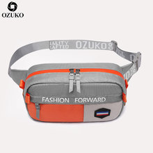 OZUKO New Men Waist Pack Fashion Fanny for Teenage Travel Phone Pouch Belt Bag Bags Small Running Sport Bolso