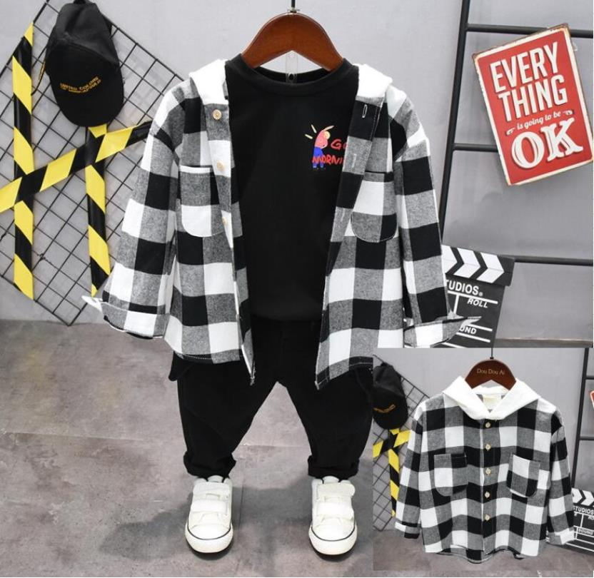 Baby Boy Clothing Sport Kid Clothes Suit Baby Clothing Set Long Sleeve Baby Boys Set Autumn Hooded shirts + T-shirt + pants 3pcs