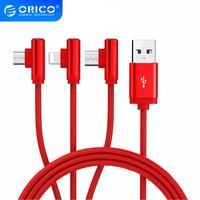 ORICO-Cable USB 3 en 1 para teléfono móvil, Cable de carga Micro USB tipo C para iPhone, Samsung, 6X7, 8, 10, xiaomi