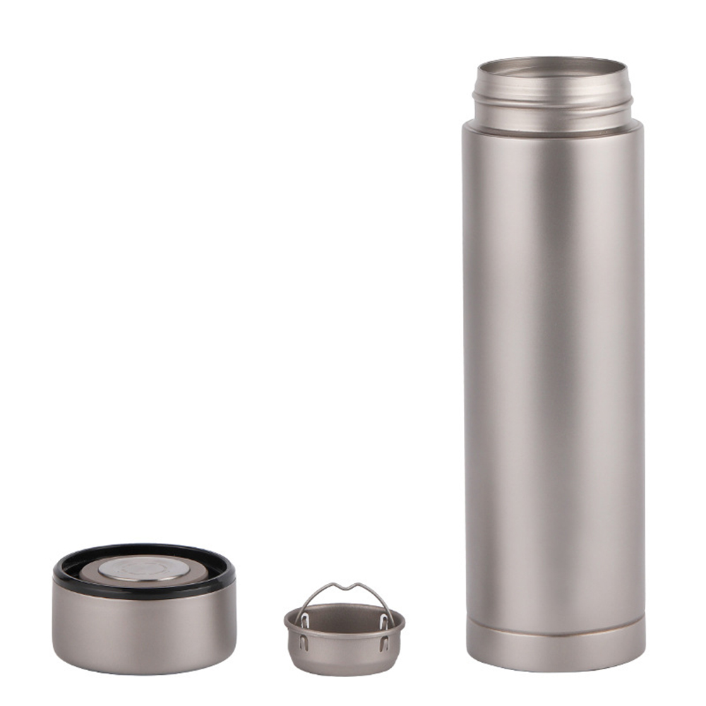Lixada 500ml Double Wall Vacuum Insulated Titanium Water Bottle  Flask Outdoor Sports Leak Proof Water Bottle Tea BottleOutdoor  Tablewares