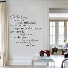 bless this home and all who enter quote wall sticker dinning room bedroom god religion pray quote wall decal vinyl home decor Novelty In This House Home Rules DIY Removable Wall Quote Sticker for Room Decor Family Vinyl Wall Decal Decorative