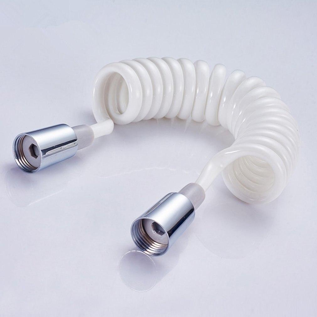 Copper Cap Shower Foam Bidet Telescopic Spring Hose 1.5m PVC Spring Flexible Retractable Shower Hose Shower Head Toilet Bidet