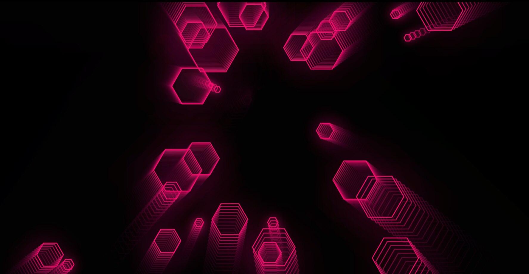 六边形酷科技特效单页源码