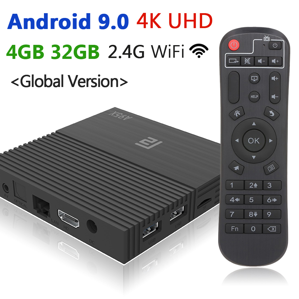 MX10//A95X Pro//H96 Smart TV Box Android 7.1 Quad Core 2G//4G 16//32G 4K WiFi Media