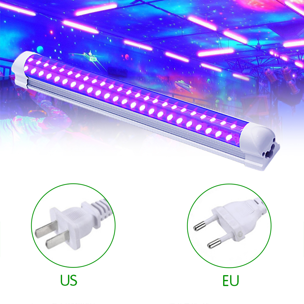 60 diodo emissor de luz ultravioleta lâmpada 10 w uv blacklight disco t8 tubo dj festa iluminação palco para barra arte mostrar clube corpo pintura tubo integrado