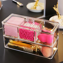New Clear Acrylic transparent Makeup Organizer Storage Boxes Make Up For Cosmetics Brush home Drawer