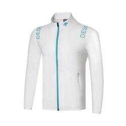 Закручивающаяся Мужская одежда для гольфа с длинными рукавами, тонкая ветровка для гольфа, четыре цвета на выбор, S-XXXL, бесплатная доставка