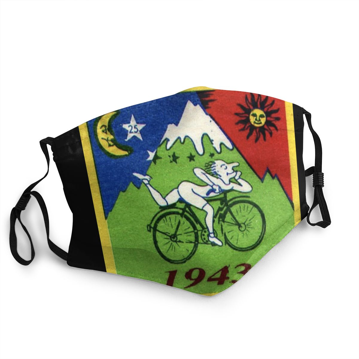 Albert Hoffman LSD Bicycle Day Unisex Non-Disposable Face Mask Anti Bacterial Dustproof Protection Cover Respirator