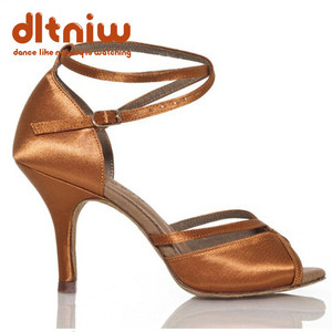 Image 2 - 2020 אישה שחור טאן ריקודים סלוניים נעלי נשים רחב רוחב Custom עקבים סלסה הלטינית נשים של נעלי ריקוד לטיני