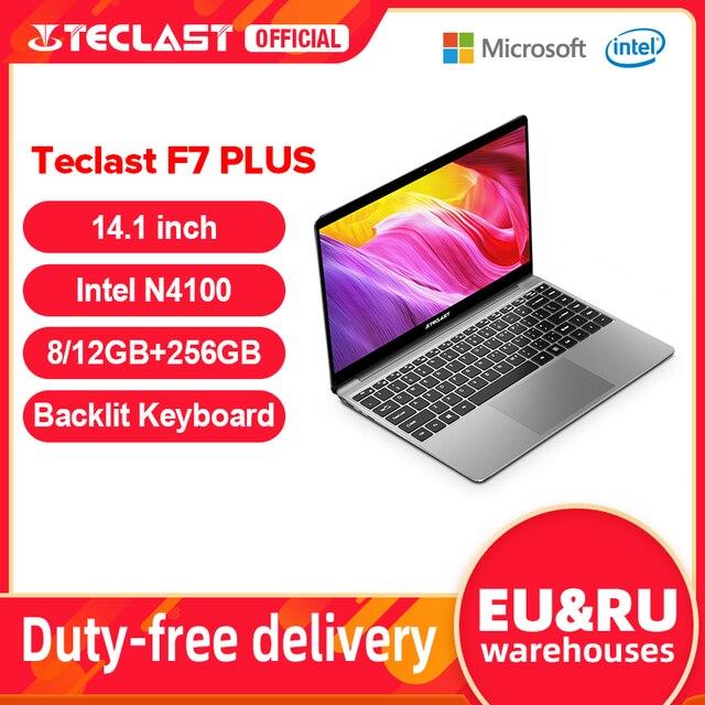 "Teclast f7 plus 14.1 ""8gb/12gb ram 256gb ssd portátil fhd 1920×1080 intel gemini lago n4100 windows 10 teclado retroiluminado notebook 1"