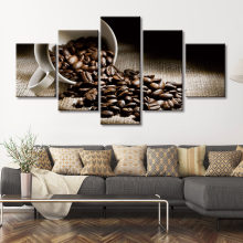 Wall Art Modulaire Canvas Hd Prints Posters Home Decor Foto 5 Stuk Koffieboon Art Schilderijen Kader(China)