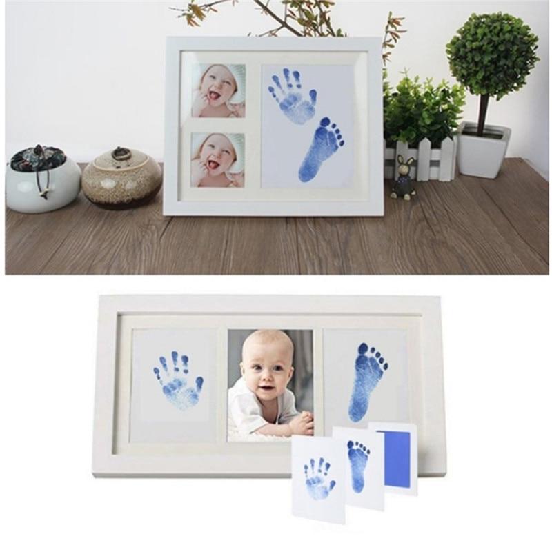 Newborn Baby Handprint Footprint Safe No Wash No Mess Non-Toxic Oil Pad Painting Photo Hand Foot Print Pad Wonderful Souvenir