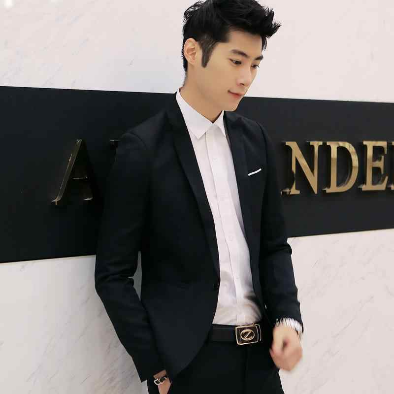 Novelty2020 dla mężczyzn S Blazer dla mężczyzn dorywczo dopasowany przylegający garnitur płaszcze i dół kurtki TERNO Masculino dla mężczyzn dorywczo kurtka koreańska