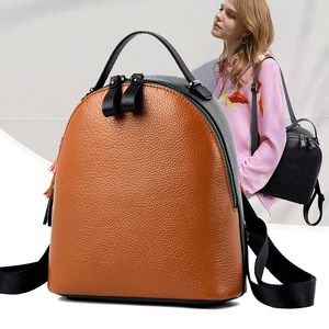 Image 2 - 2020 New Genuine Leather Women Backpack Shoulder Bag Female Small Tassel Backpacks Fashion Casual Travel Bag First Layer Leather