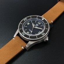 Steeldive SD1952 avec logo avec date 41MM NH35 montre de plongée automatique 300m résistant à l'eau lunette en céramique verre saphir hommes montre