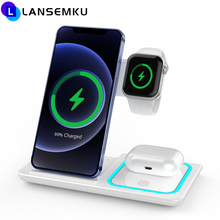 3 in 1 Wireless Charger For Magsafe iPhone 11 12 Series XS Max 15W Qi Fast Charging Wireless Chargers For Apple AirPods