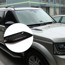 2Pcs/Set Car Exterior Hood Air Vent Outlet Wing Cover Trim for Land Rover Range Rover Evoque 2012-2018 Auto Styling Accessories abs chrome for land rover range rover evoque 2012 car door and window glass lifting switch cover trim car styling