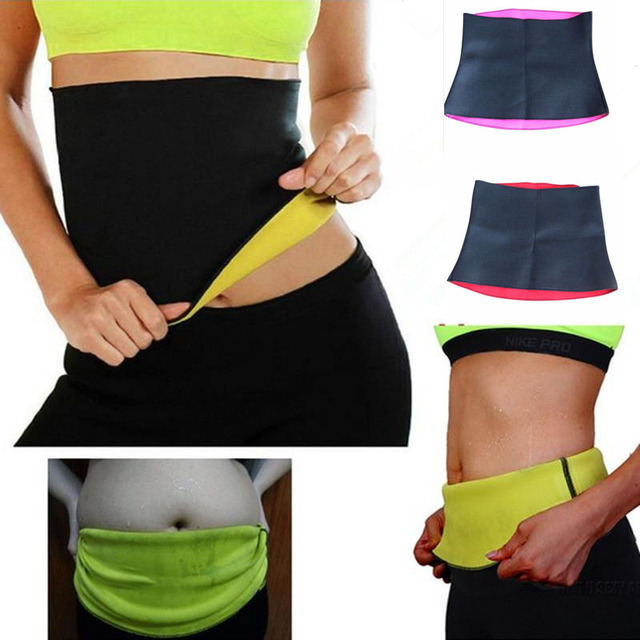 FDBRO Fitness Sport Sweat Band Waist Band Gym Fitness Sports Exercise Waist Support Pressure Slimming Body Building Belt Trainer 2