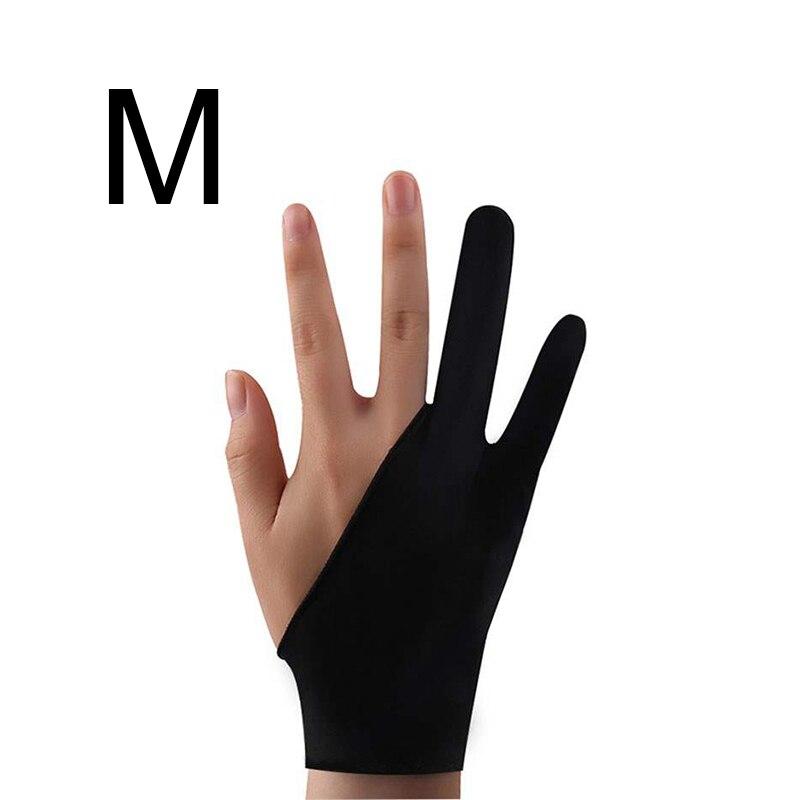 Два-пальцы художника анти-сенсорные перчатки для планшет для рисования правой и левой руки перчатки, предотвращающая контакт с экраном для ipad Экран доска - Цвет: M