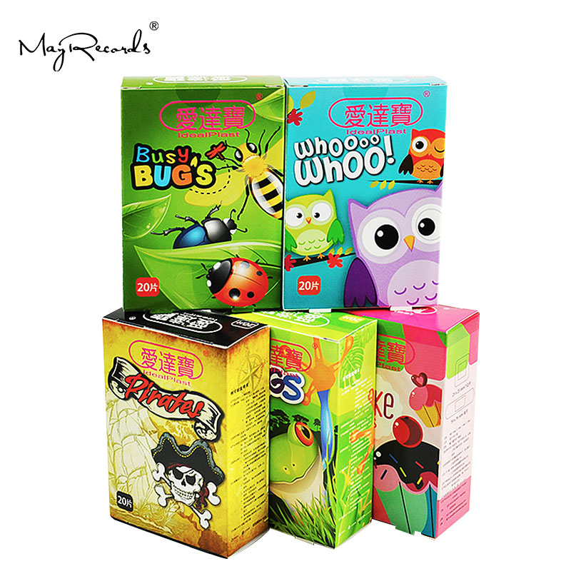 Pack Of 100pcs/5boxes Assorted Breathable Waterproof Cartoon Adhesive Bandages Hemostasis Band Aid For Children Kids