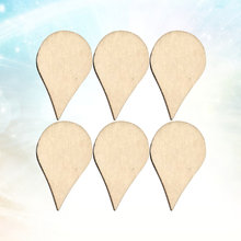 200 Pcs 15x10mm DIY Wooden Slices Water Drop Shaped Doodle Embellishments DIY Decorations Crafts Accessories Small Pendants for(China)
