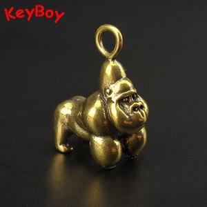 Brass Gorilla Keychains Hangin