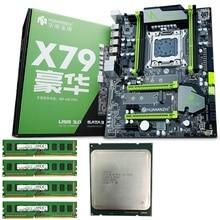 HUANANZHI материнская плата X79 Pro Материнская плата с двумя слотами M.2 Накопитель SSD с протоколом NVME cpu Intel Xeon E5 2640 2,5 ГГц ram 16G(4x4G