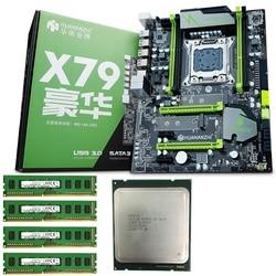 HUANANZHI материнская плата X79 Pro Материнская плата с двумя слотами M.2 Накопитель SSD с протоколом NVME cpu Intel Xeon E5 2640 2,5 ГГц ram 16G (4x4G)