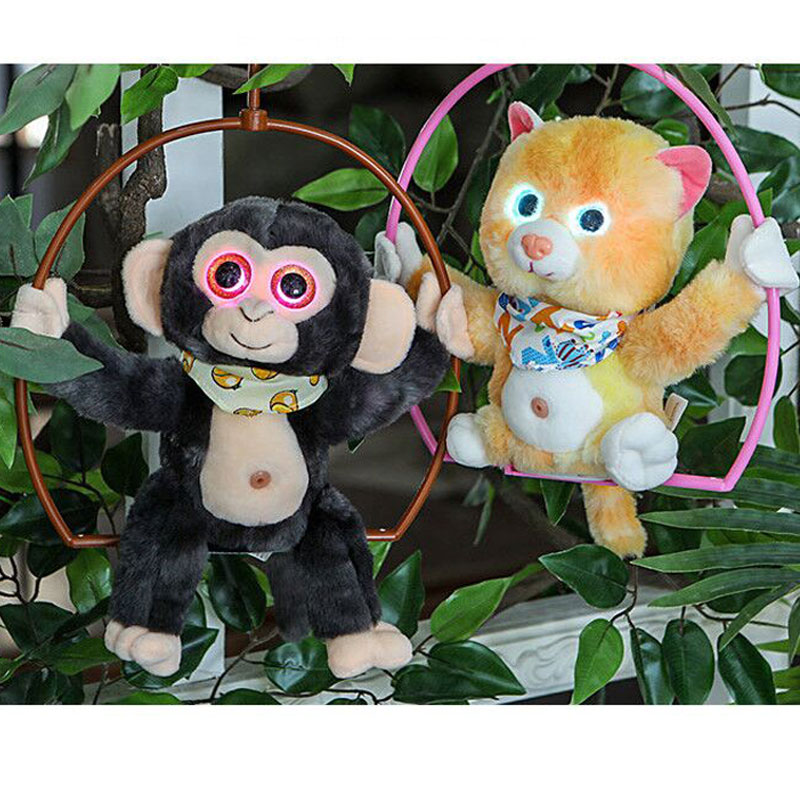 Robot Monkey Toys Sound Control Cat Electronic Plush Pet Interactive Talking Animals With Light Electric Funny Toy For Children