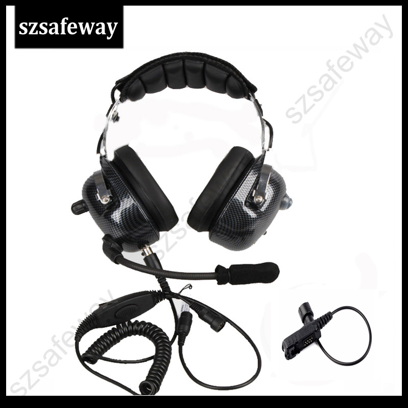 Two Way Radio Headset For Motorola DP2000 DP2400 DP2600 DP3441 XPR3300 XPR3500 XIR P6600