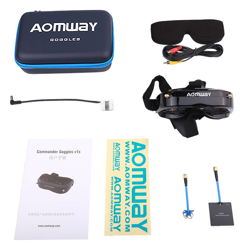 AOMWAY Commander V1S 64CH 3D Video Glasses FPV Artifact 5.8G Head wearing Myopia Available,Upgraded version of V1 - 2